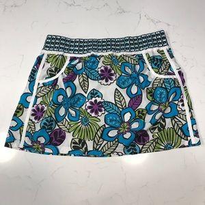 Athleta Tropical blue floral mini skirt